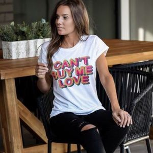 Can't buy me love graphic tee